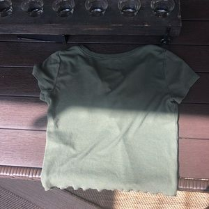 Hollister Tops - navy green top